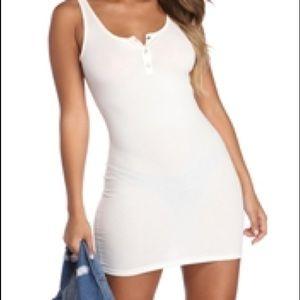 Dresses & Skirts - Windsor white button bodycon dress